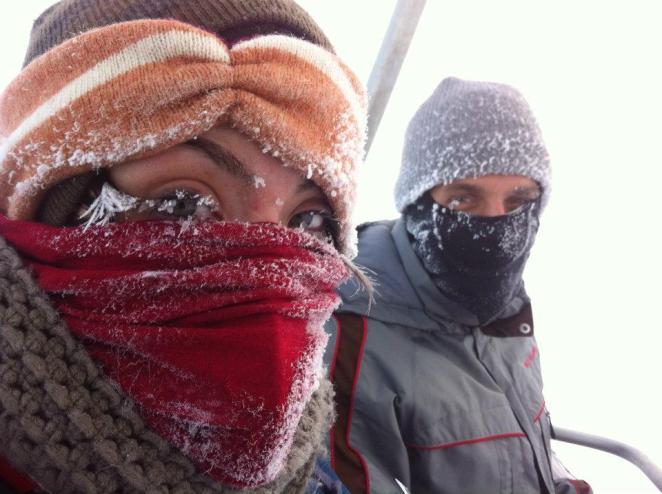 Frozen Eyelashes on a Ski Lift